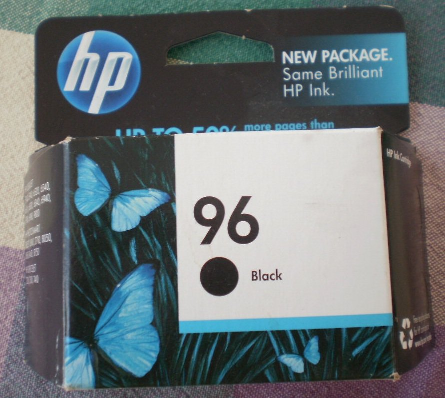 HP Ink Cartridge 96 Black NIP 860pages C8767WN Hewlett Packard