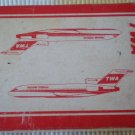TWA US Playing Cards Red White Airplane Trans World Airlines Vintage