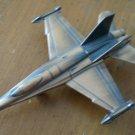 Pencil Sharpener Airplane Fighter Jet Copper Color Metal