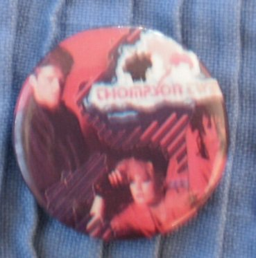 Thompson Twins Pin Badge Button 1980s Vintage Band