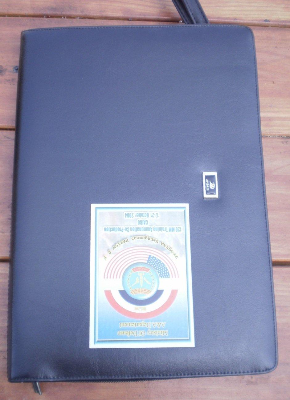 Folder 120mm Training Ammunition Cairo Black Leatherette