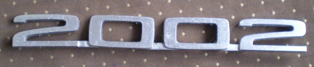 BMW 2002 Metal Emblem Vintage Bimmer Chrome 18021132
