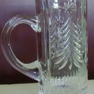 Crystal Glass Christmas Tree Mug Stein Holiday