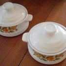 Cappi Bake Serve Store Stoneware Lot 2 Capri Bowl Lid