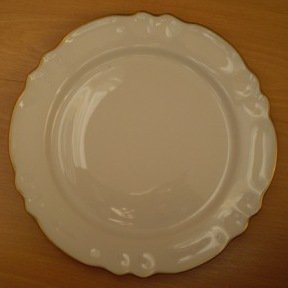 Limoges Coquet Dessert Salad Plate White Gold Trim