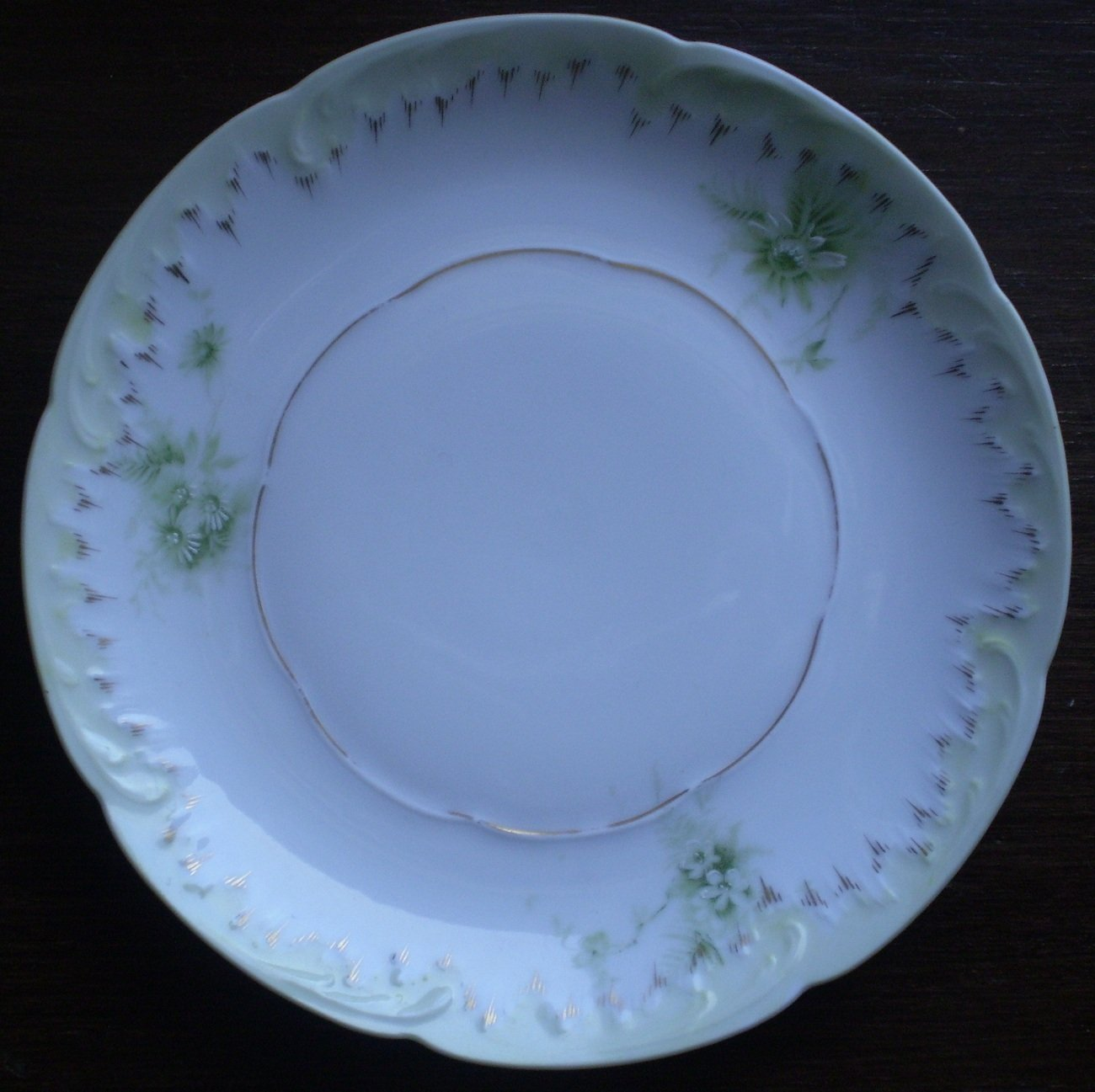 Rosenthal Monbijou Bread and Butter Plate 6 3/8 White Green
