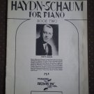 Haydn-Schaum for Piano Book Two 2 Belwin Sheet Music 1948