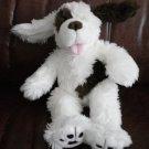 BABW Dog Build a Bear Workshop White Brown Plush Stuffed Toy