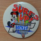 Surf's Up Breakfast With Mickey and Friends Button Disney Pin Disneyland Restaurant