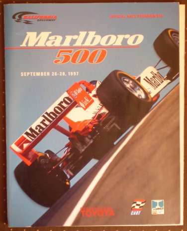 Marlboro 500 CAlifornia Speedway 1997 Official Race Program