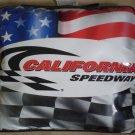 California Speedway Pillow Pad Seat Vinyl Racing