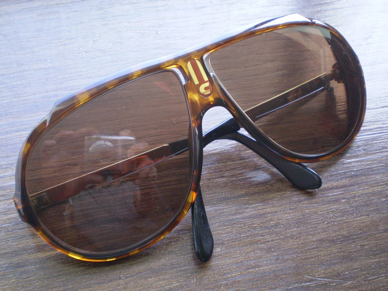 Vintage Carrera Aviator Sunglasses Tortoise Shell Brown Eyeglasses Shades