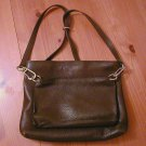 Vintage Desmo Leather Bag Backpack X-Straps Brown Barney Italy