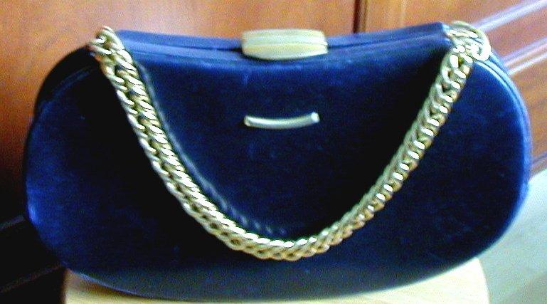 Vintage Coblentz Bag Black Leather Hardcase Kidney Shape