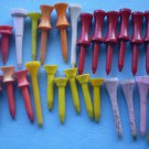 Vintage Golf Tees Plastic Wood Lot Various Sizes