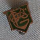 14K Gold Pin OCPG or PGOC Green Enamel Meyers & Co Vintage Lapel