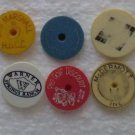 Lot 6 Mixed Golf Ball Marker Vintage Warner Springs Ranch Ma