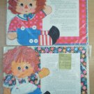 Raggedy Ann Andy Placemats Lot 2 sets Vintage Hallmark