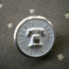 Liberty Bell 1776 Metal Button Self Shank Silver White 5/8in Lot 2