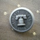 Liberty Bell 1776 Metal Button Self Shank Gray Black 5/8in Lot 2