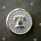 Liberty Bell 1776 Metal Button Self Shank Gold White 6/8in Lot 2