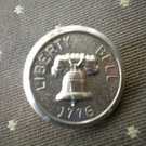 Liberty Bell 1776 Metal Button Self Shank Silver 6/8in  Lot 2
