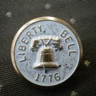Liberty Bell 1776 Metal Button Self Shank Gold White 7/8in Lot 2