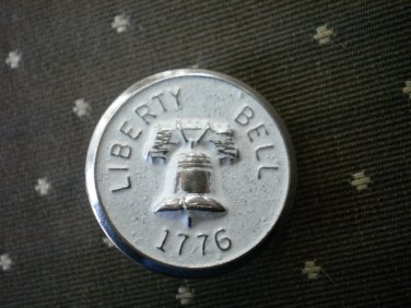 Liberty Bell 1776 Metal Button Self Shank Silver White 7/8in Lot 2