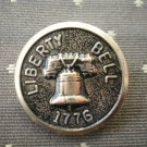 Liberty Bell 1776 Metal Button Self Shank Gold Black 7/8in Lot 2