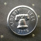 Liberty Bell 1776 Metal Button Self Shank Silver 7/8in Lot 2