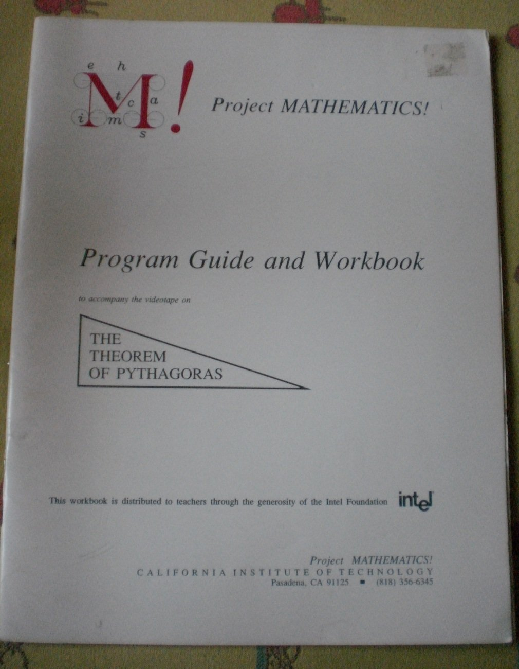 Project Mathematics Guide Workbook Theorem Pythagoras Edi