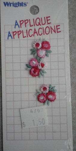 Wrights Applique Bouquet Flowers Sew-on 3/card 261