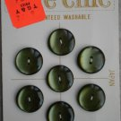 Le Chic Buttons Moss Green 7/card 5685 Japan Vintage