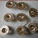 Gold Metal Buttons Lot 8 Sir James Self Shank 9/16in