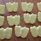 Yellow Butterfly Buttons Plastic Lot 11 Vintage Children Sewing Crafts 13mm