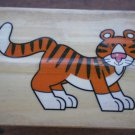 Rubber Stamp Tiger Mounted Wood Animal 5x3.5