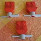 Lego Lot 3 Propellers Blades Fans Grey Red