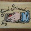 Hand Stamped By Rubber Stamp Comotion 786 1994 Wood Mount Lightning