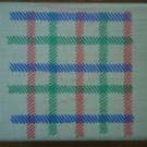 Waffle Plaid Weave Rubber Stamp Rubber Stampede A819E Wood Mounted Checkers