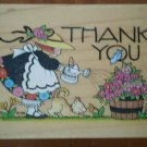 Mary Engelbreit Thank You Watering The Roses Rubber Stamp All Night Media 581H