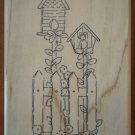 Birdhouse Garden Rubber Stamp TRL Design U155 Wood Mounted Unused Bird House