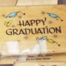 1990 Hero Arts Rubber Stamp Happy Graduation Craft Scrapbook