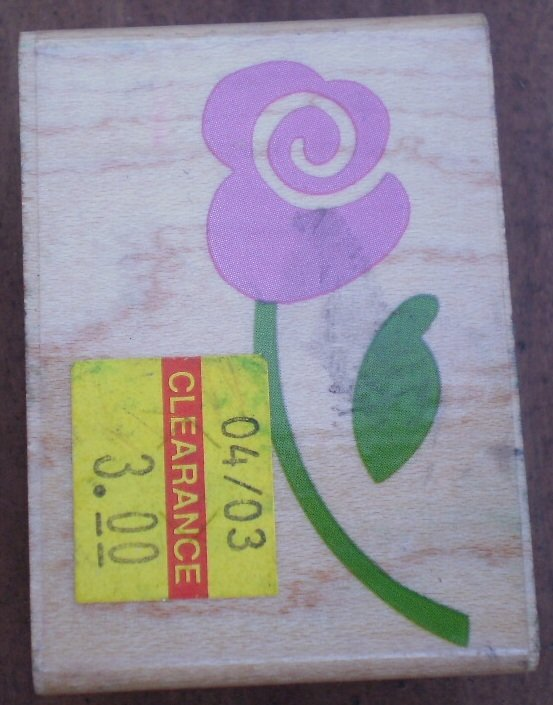 Rubber Stamp Whimsical Rose Stem A2332D Mounted Rubber Stampede