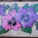 Rubber Stamp Pansies Pansy 2470 Comotion Mounted Purple Pink Flowers