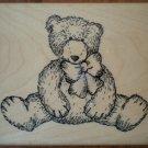 Rubber Stamp Teddy Bear TRL Design Q239 Wood Mounted Unused