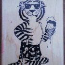 Rubber Stamp Suzy Zoo Beach Tiger A138E Mounted Rubber Stampede