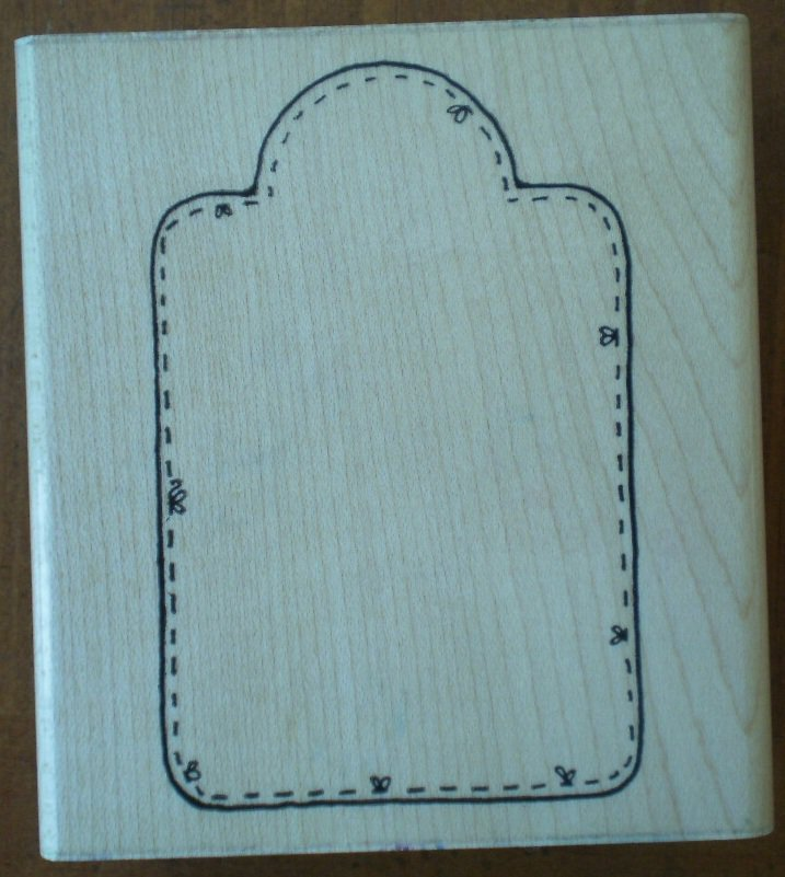 Rubber Stamp Little Gift Tag Q194 D.O.T.S Wood Mounted Dots Unused