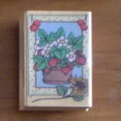 Hero Arts Strawberries In Frame Rubber Stamp E971