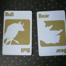 Bear Bull Cards Pit Trading Game Parts 661 Parker Brothers 1973