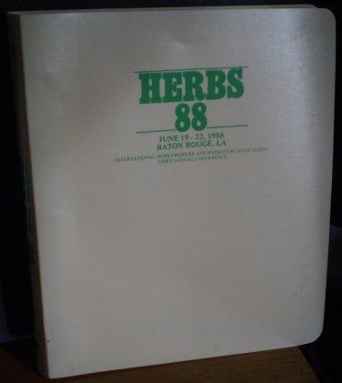 Herbs 88 Baton Rouge LA International Herb Growers Proceedings